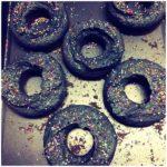 black donuts bath bombs
