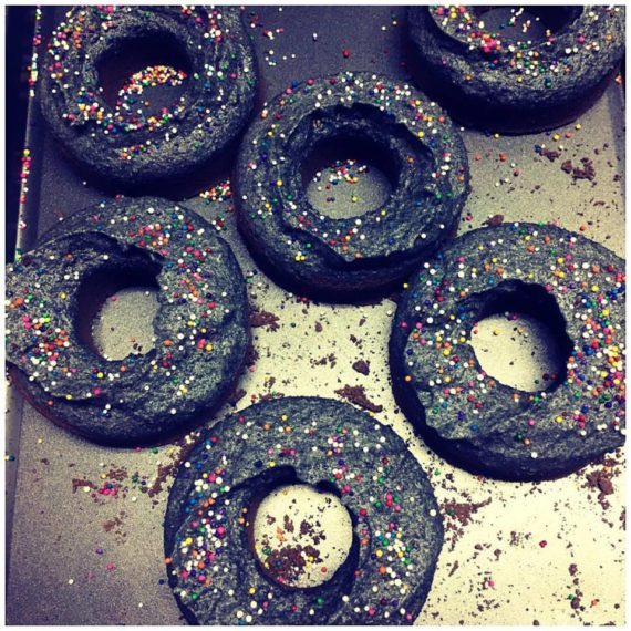 black donuts bath bombs