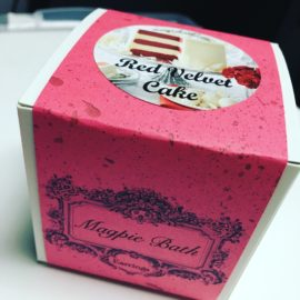 red velvet bath bomb box